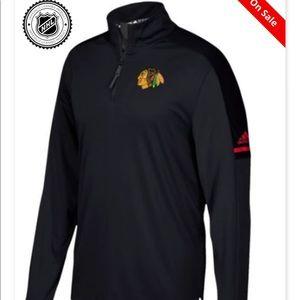 Adidas blackhawks quarter zip XXL jacket